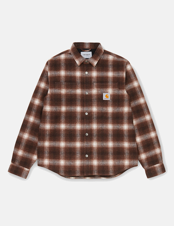 Carhartt-WIP Lashley Check Shirt Jacket - Tobacco Brown