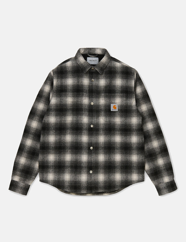 Carhartt-WIP Lashley Check Shirt Jacket - Black