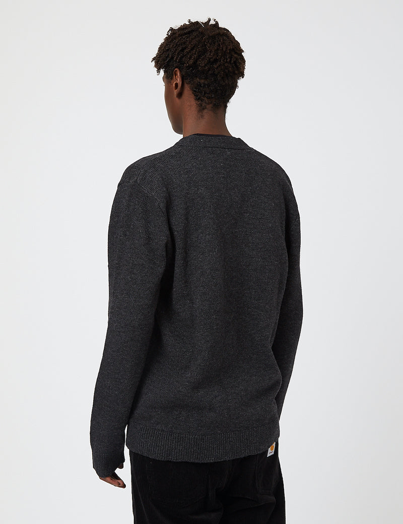 Carhartt-WIP Allen Cardigan (Lambswool) - Black Heather