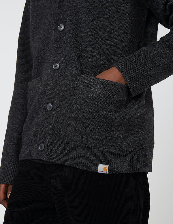 Carhartt-WIP Allen Cardigan (Lambswool) - Schwarz Heather