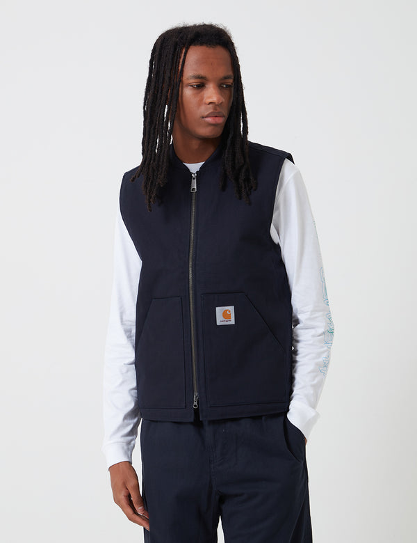 Carhartt-WIP Vest (Organic Cotton) - Dark Navy Rigid