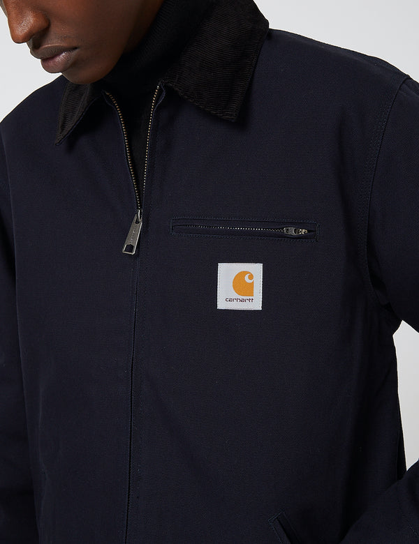 Carhartt-WIP Detroit Jacket (Organic Cotton, 12 oz) - Dark Navy rigid