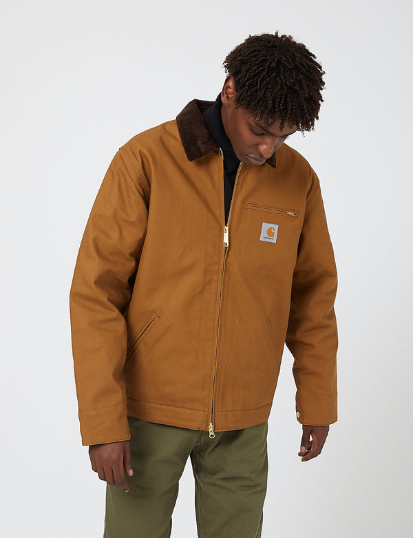 Carhartt-WIP Detroit Jacket (Organic Cotton, 12 oz) - Hamilton Brown rigid
