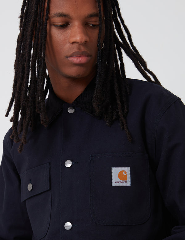 Carhartt-WIP Michigan Coat (Organic Cotton) - Dark Navy rigid