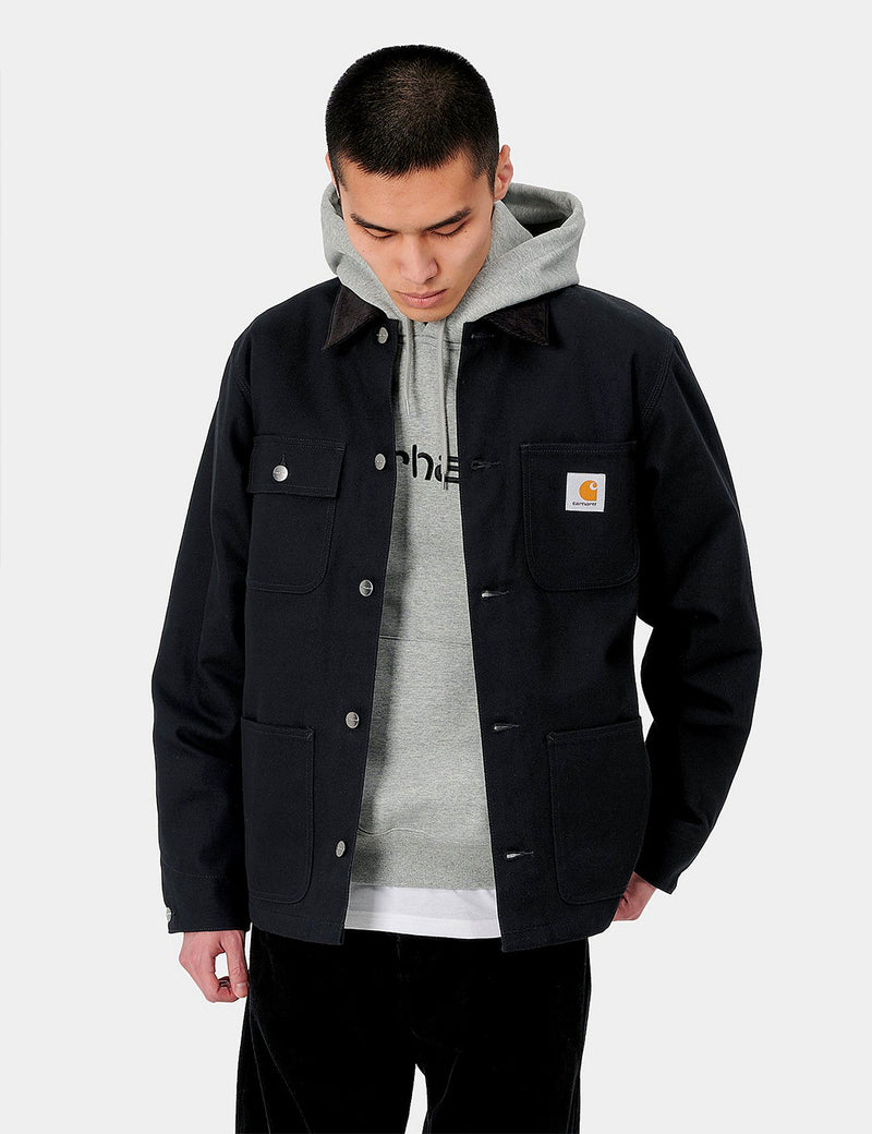 Carhartt-WIP Michigan Coat (Organic Cotton) - Black rigid