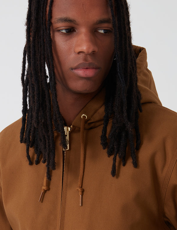 Carhartt-WIP Active Jacket (Organic Cotton) - Hamilton Brown rigid