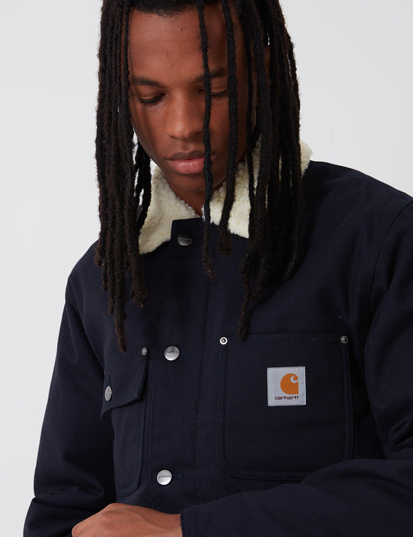 Carhartt-WIP Fairmount Coat (Organic Cotton) - Dark Navy rigid