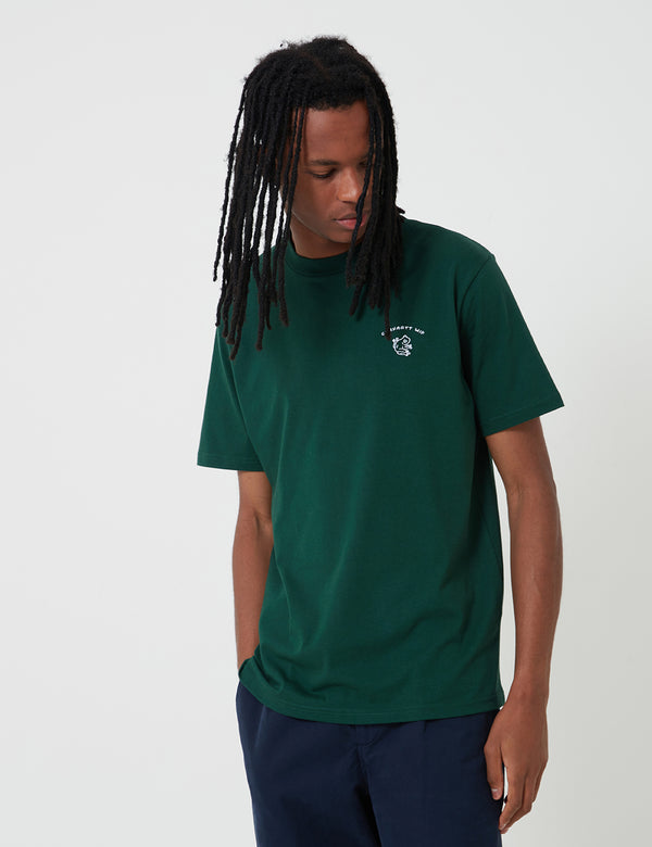Carhartt-WIP Reverse Midas T-Shirt - Bottle Green/White
