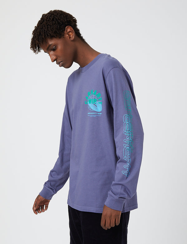 Carhartt-WIP Remix Long Sleeve T-Shirt - Cold Viola