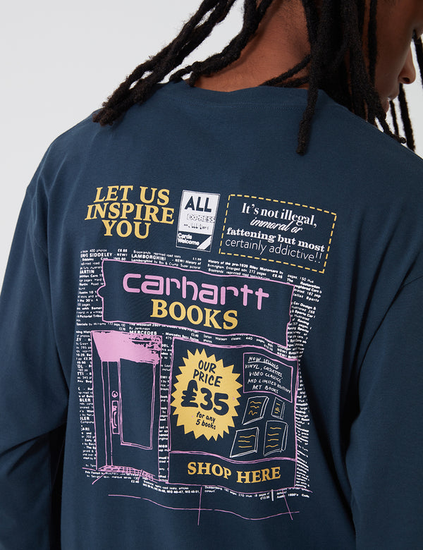 Carhartt-WIP Books Shop Long Sleeve T-Shirt - Admiral