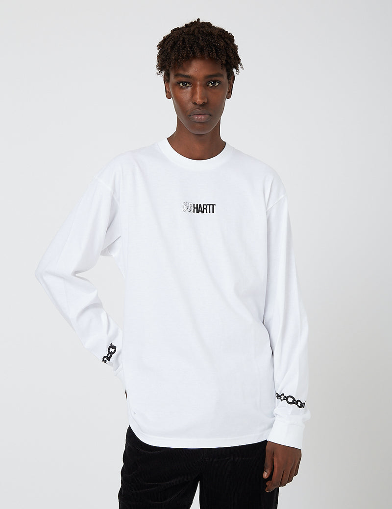 Carhartt-WIP Twisted Truth Long Sleeve T-Shirt - White
