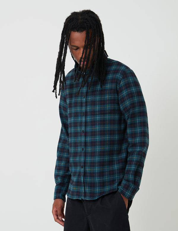 Edwin Don Flannel Tartan Shirt - Greener Pastures