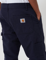 Carhartt-WIP Ruck Single Knee Pant (Organic Cotton) - Dark Navy rinsed