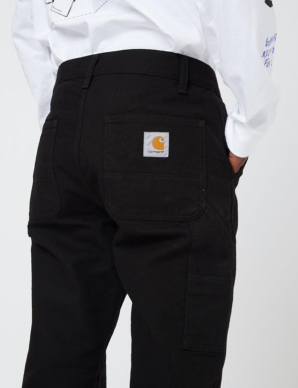 Carhartt-WIP Ruck Single Knee Pant (Organic Cotton) - Black rinsed