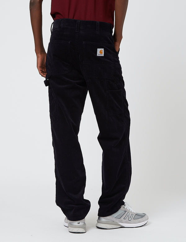 Carhartt-WIP Single Knee Pant (Corduroy) - Dark Navy rinsed