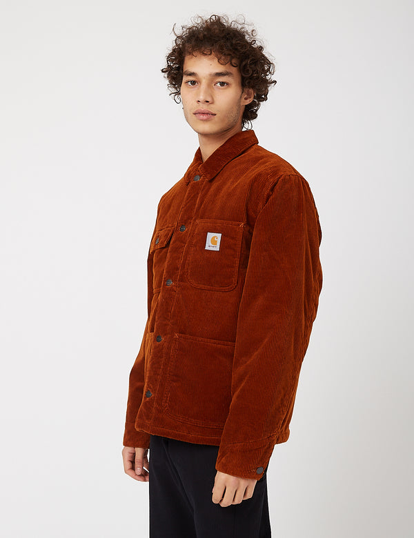 Carhartt-WIP Michigan Coat (Corduroy, 9.7 oz) - Brandy rinsed