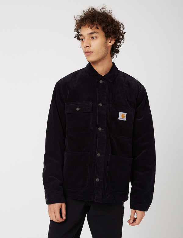 Carhartt-WIP Michigan Coat (Corduroy, 9.7 oz) - Dark Navy rinsed