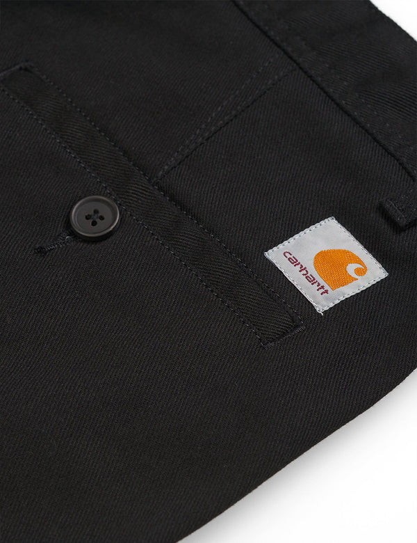 Carhartt-WIP Menson Pant (Griffin Twill, 9oz) - Black rinsed