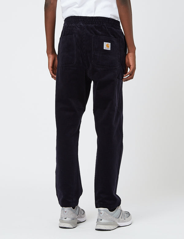 Carhartt-WIP Flint Pant (Stretch Corduroy, 10.9oz) - Dark Navy rinsed