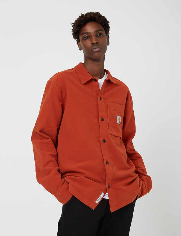 Carhartt-WIP Holston Shirt (Stretch Moleskin) - Cinnamon Rinsed