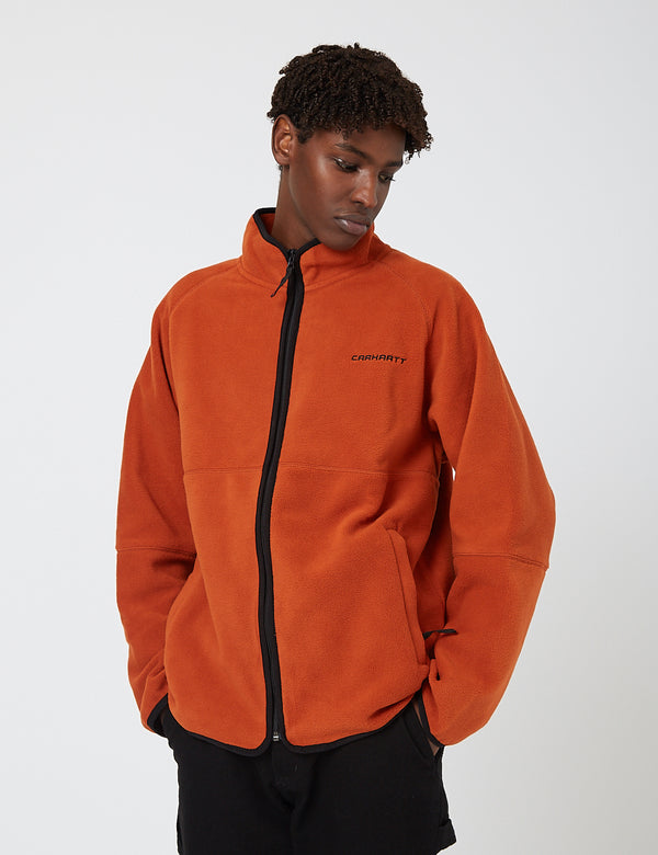 Carhartt-WIP Beaumont Jacket (Fleece) - Cinnamon/Black