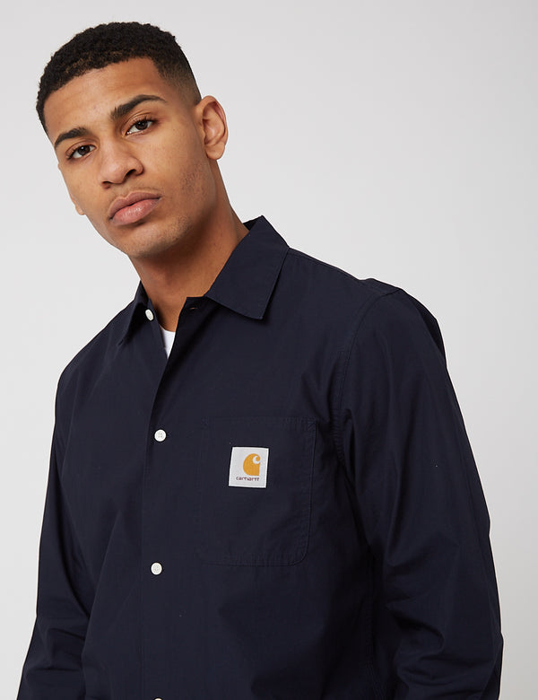 Carhartt-WIP Creek L/S Shirt (Organic Cotton) - Dark Navy Blue