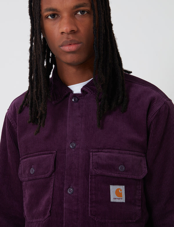 Carhartt-WIP Whitsome Shirt Jacket (Corduroy) - Boysenberry