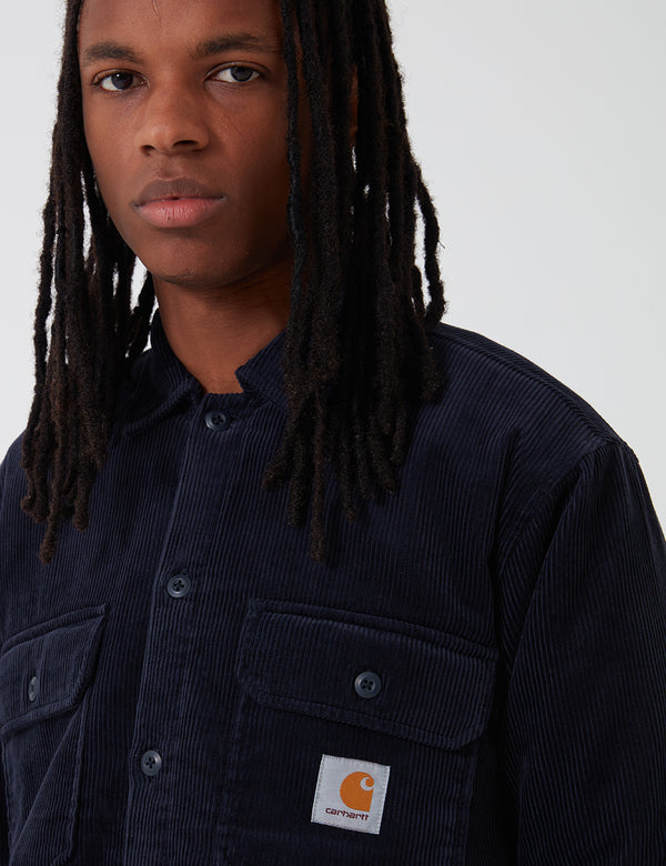 Carhartt-WIP Whitsome Shirt Jacket (Corduroy) - Dark Navy