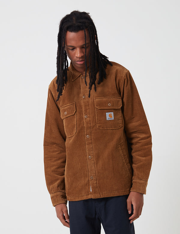 Carhartt-WIP Whitsome Shirt Jacket (Corduroy) - Hamilton Brown