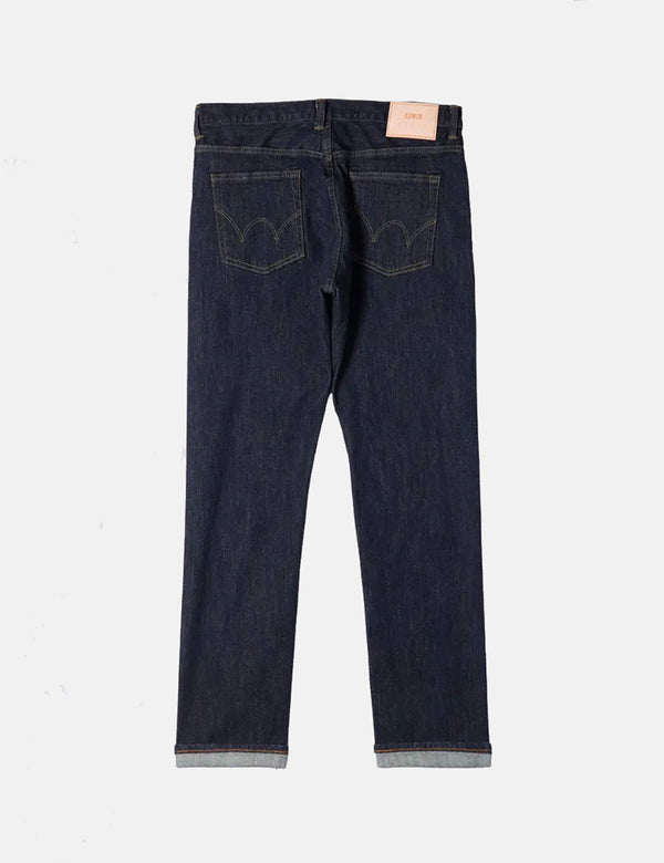 Edwin Regular Tapered Jeans (Nihon Menpu Denim) - Bleu, Rinsed