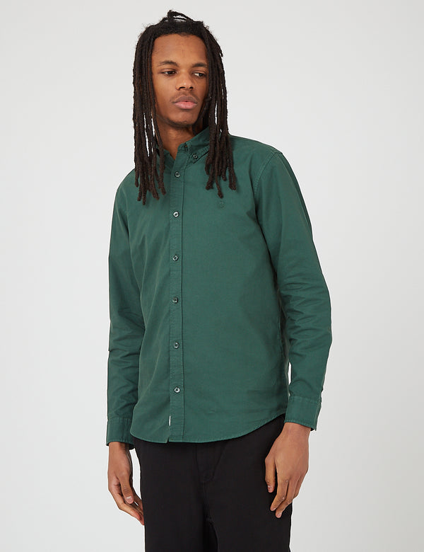 Carhartt-WIP Bolton Shirt (Cotton Oxford) - Treehouse Green