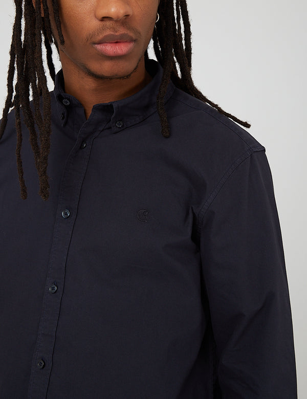 Carhartt-WIP Bolton Shirt (Cotton Oxford) - Dark Navy Blue