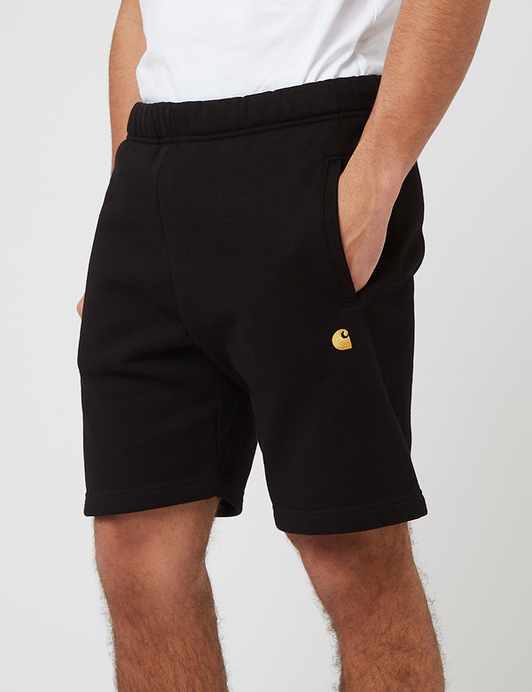 Carhartt-WIP Chase Sweat Shorts (Heavy Sweat, 13oz) - Noir