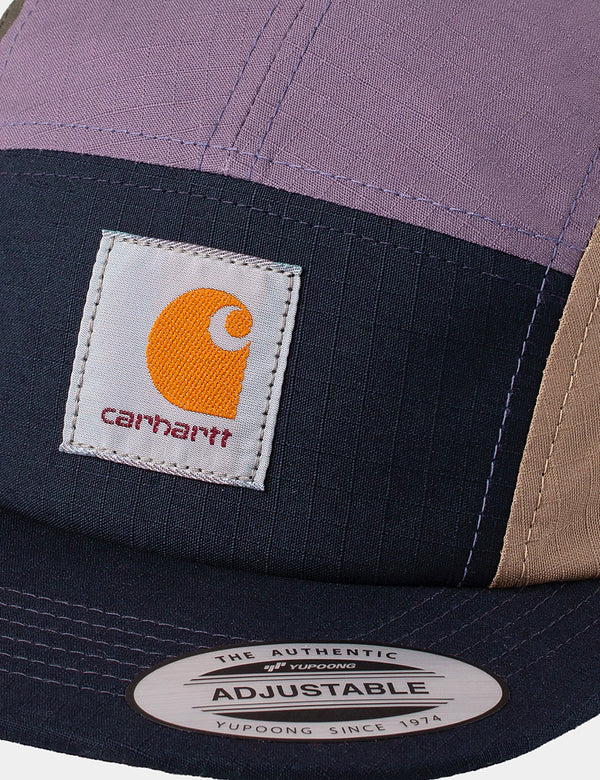 Casquette Carhartt-WIP Valiant 4 - Dark Navy/Provence/Leather/Cypress