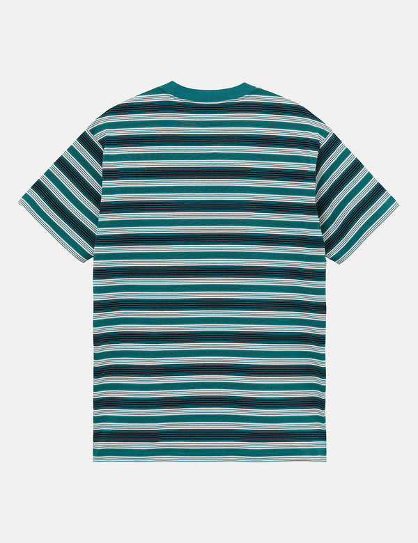 Carhartt-WIP Otis T-Shirt (Otis Stripe) - Wax/Green