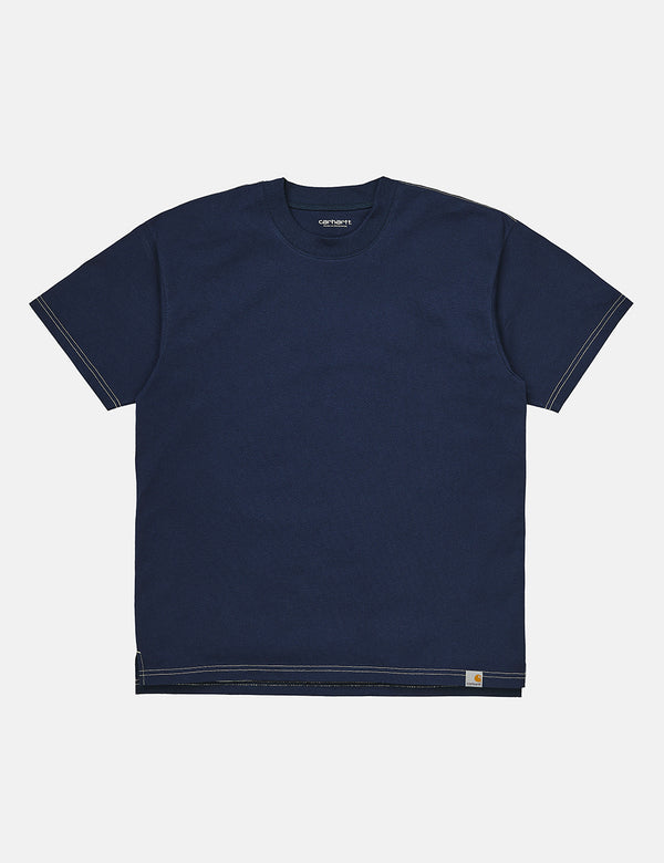 Carhartt-WIP Nebraska T-Shirt (Organic Cotton) - Space/Wax