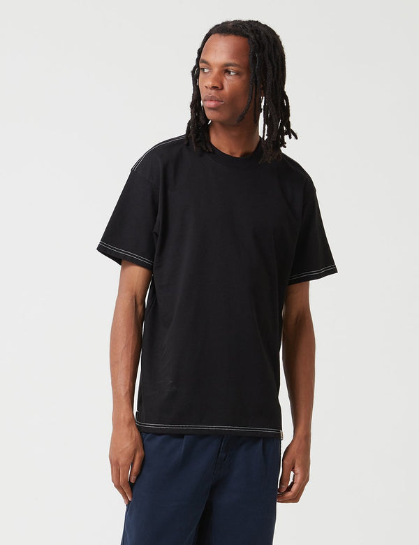 Carhartt-WIP Nebraska T-Shirt (Organic Cotton) - Black/Wax