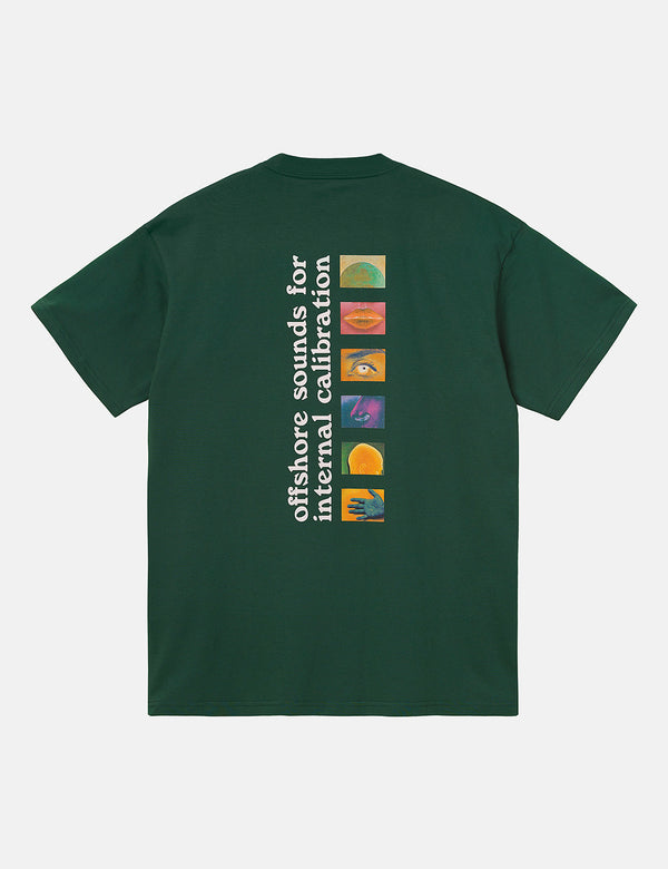 Carhartt-WIP Calibrate T-Shirt (Organic Cotton) - Treehouse Green