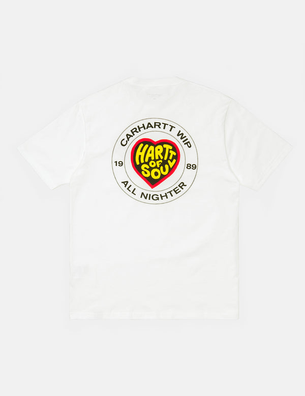 Carhartt-WIP Hartt Of Soul T-Shirt (Organic Cotton) - White