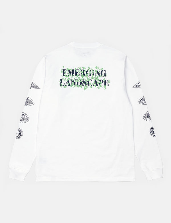 Carhartt-WIP Landscape Long Sleeve T-Shirt (Organic Cotton) - White