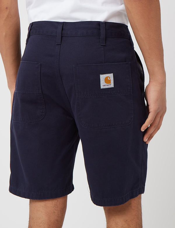 Carhartt-WIP Abbott Short (Stone Washed) - Dark Navy Blue