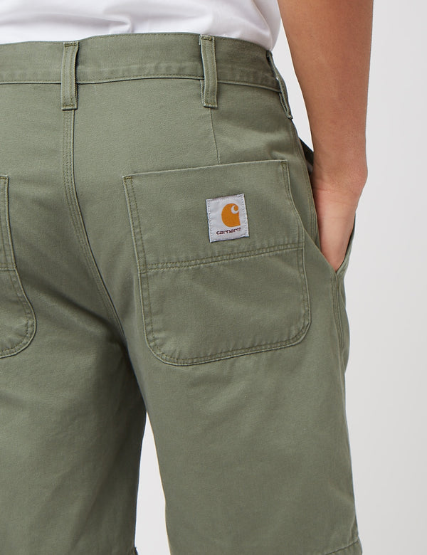 Carhartt-WIP Abbott Short (Stone Washed) - Dollar Green