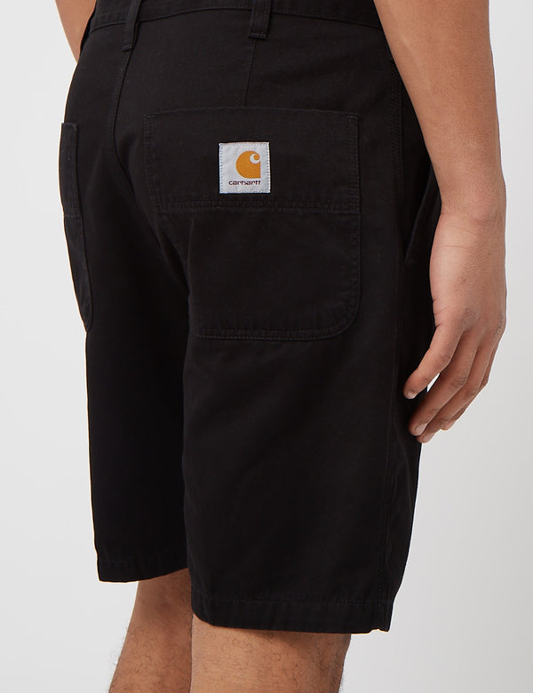 Carhartt-WIP Abbott Short (Stone Washed) - Black