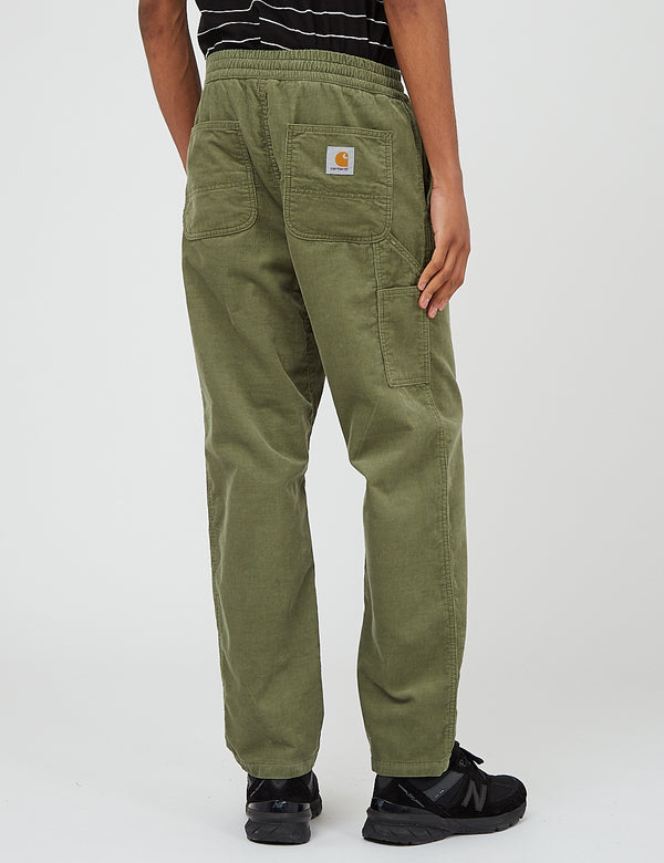 Pantalon Flint Carhartt-WIP (velours côtelé, 8 oz) - Dollar Green Rinsed