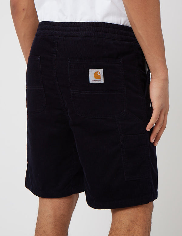 Carhartt-WIP Flint Short (Corduroy, 8oz) - Dark Navy Blue Rinsed