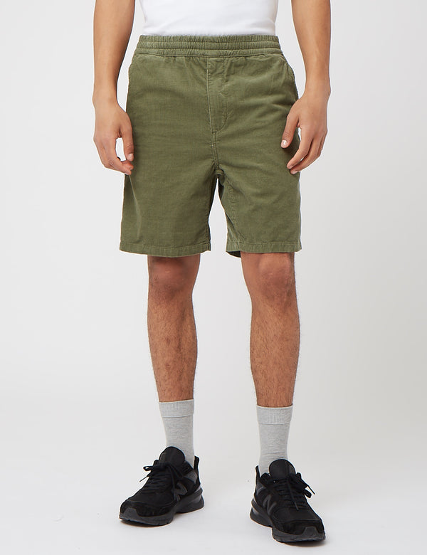 Carhartt-WIP Flint Short (Corduroy, 8oz) - Dollar Green Rinsed