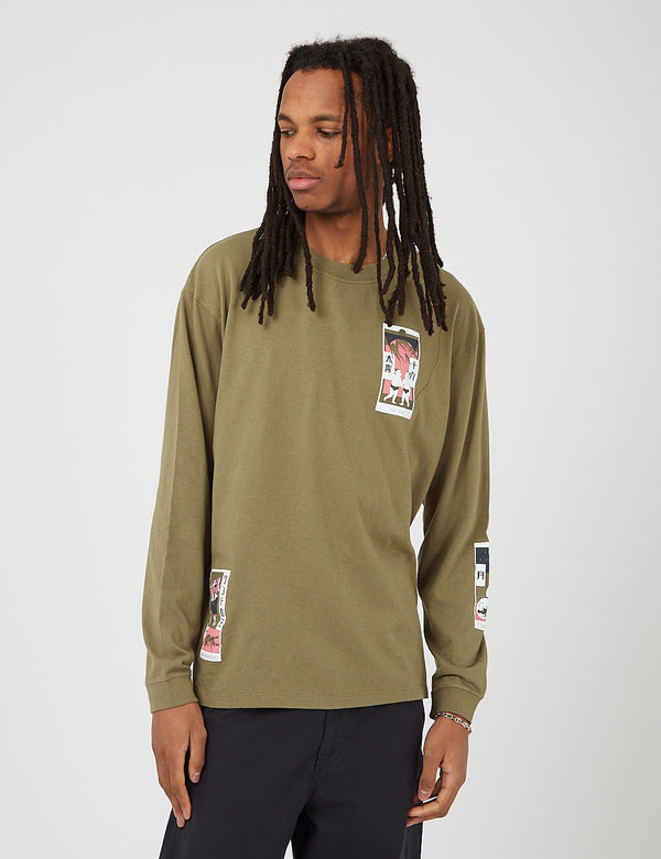 Edwin Tarot Deck II Long Sleeve T-Shirt - Martini Olive