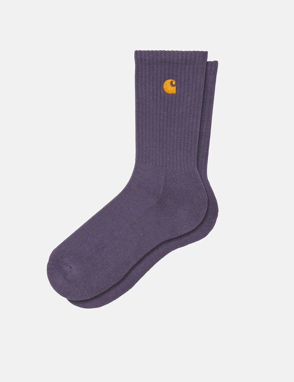 Carhartt-WIP Chase Socken - Provence/Gold
