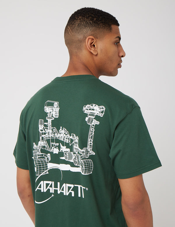 T-Shirt Carhartt-WIP Orbit - Treehouse/Blanc