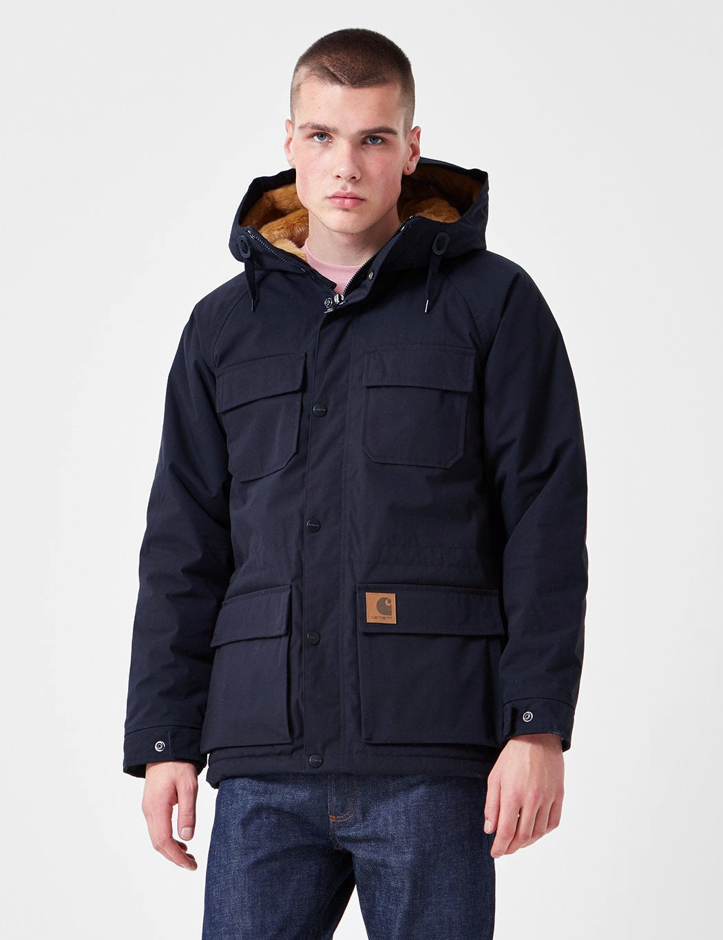 25ef65b39 Carhartt Mentley Jacket - Dark Navy Blue